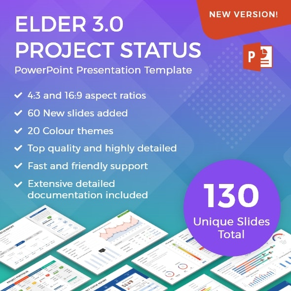 Elder 3 0 A Project Status Report Powerpoint Template By