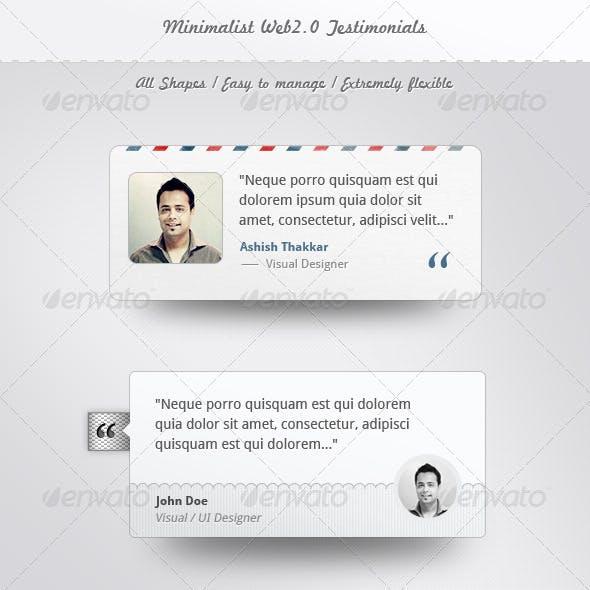 Minimalist Web Testimonials Box