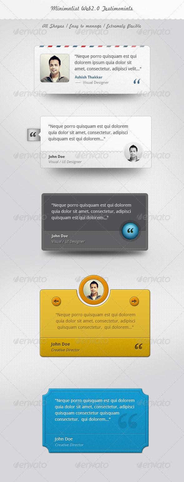 Minimalist Web Testimonials Box - Miscellaneous Web Elements