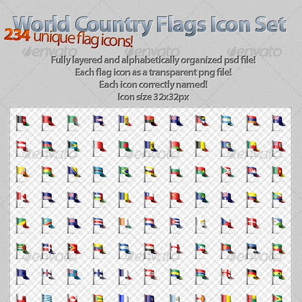 Unique World Country Flags Icons!