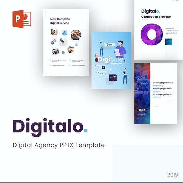 Digitalo Portrait Digital Agency PowerPoint Template