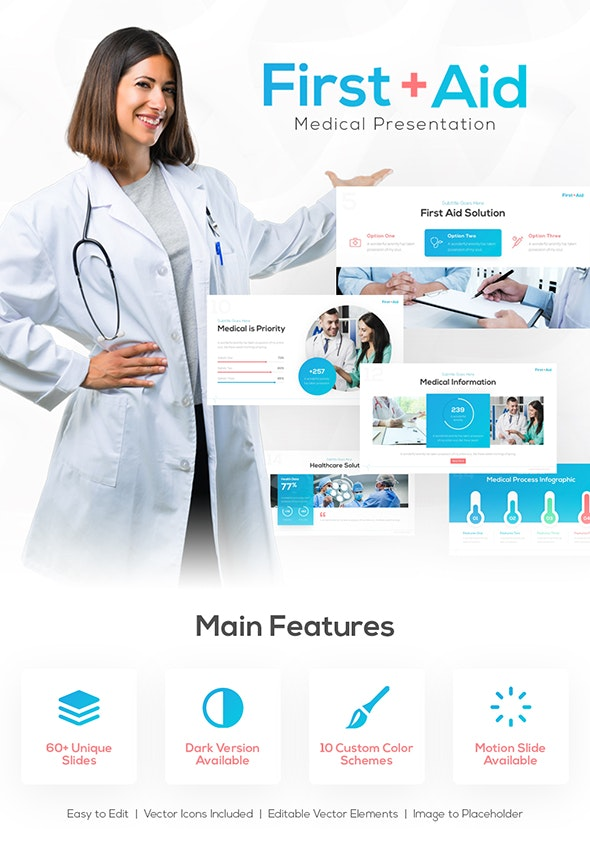 First Aid Medical PowerPoint Presentation Template - PowerPoint Templates Presentation Templates