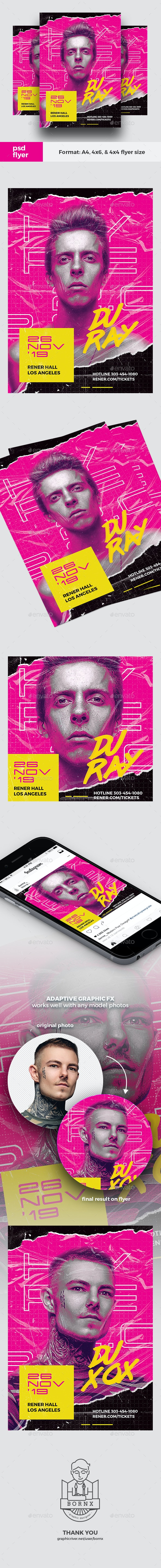 Hype DJ Flyer - Clubs & Parties Events