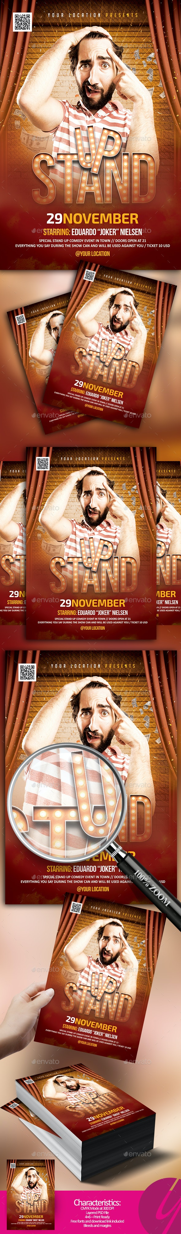 Stand Up Comedy Flyer - Clubs & Parties Events