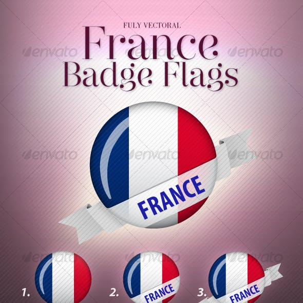 French Flag Badge