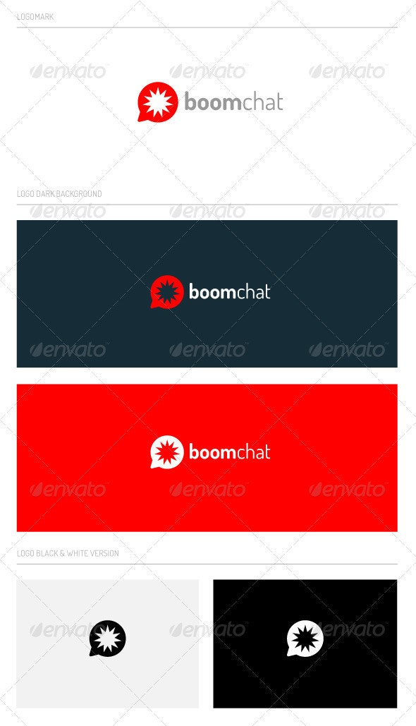 boomchat - Abstract Logo Templates