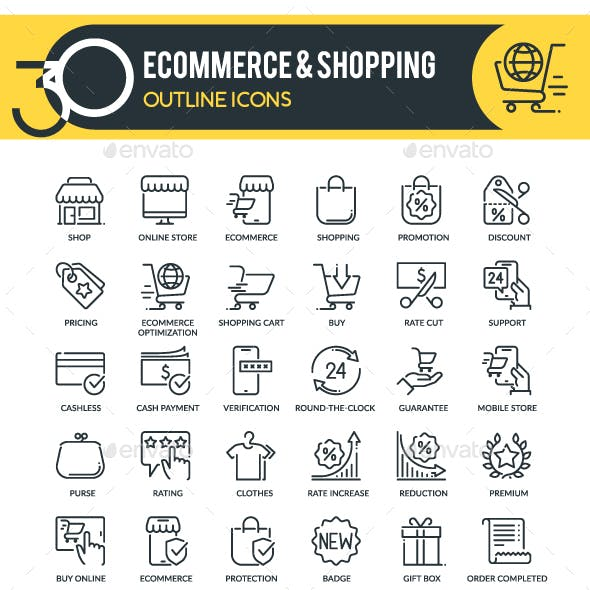 Ecommerce Outline Icons