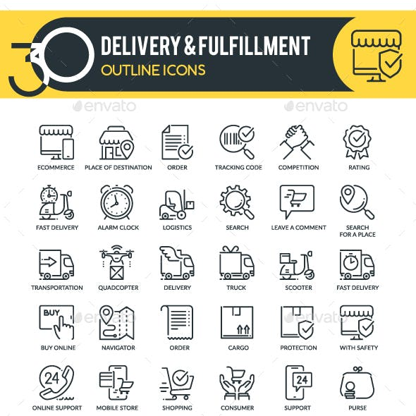 Delivery Outline Icons