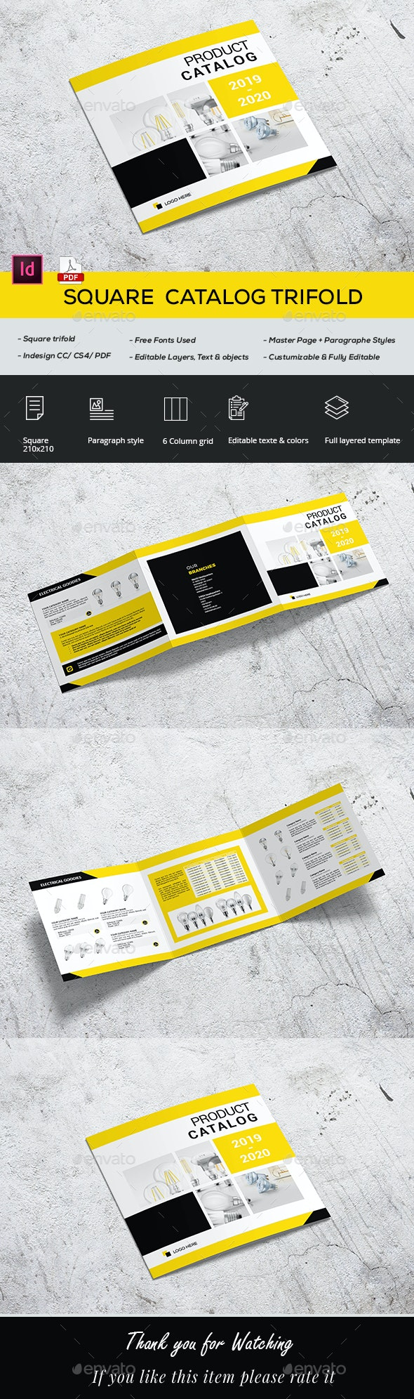 Square Catalog Trifold - Catalogs Brochures