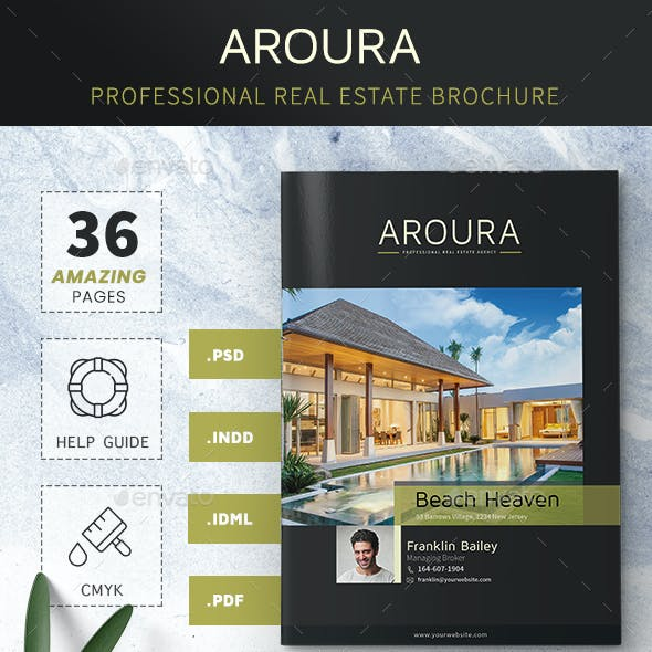 Real Estate Brochure - Aroura Dark Version