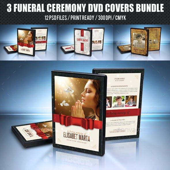 3 Funeral Ceremony DVD Covers Bundle V2