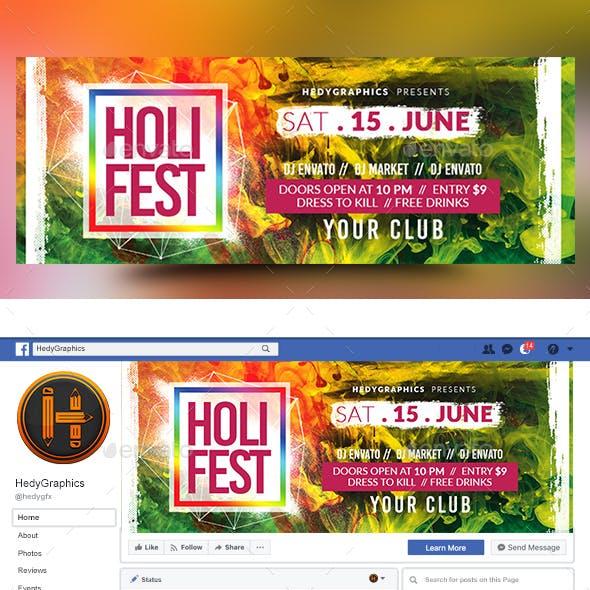 Holi Festival Facebook Timeline