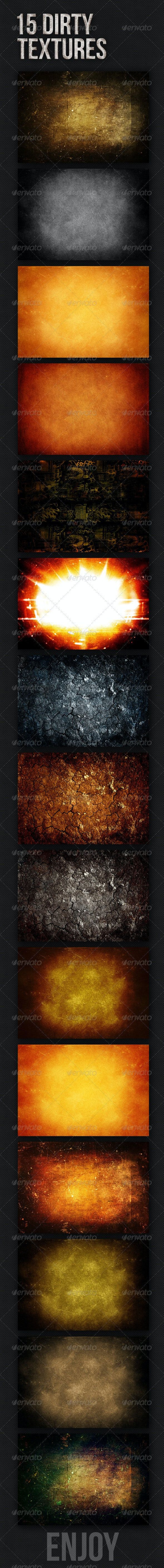 15 Dirty Textures  - Industrial / Grunge Textures