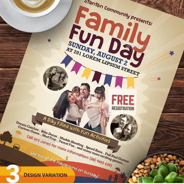 Alternative Family Fun Day Flyers vol.02