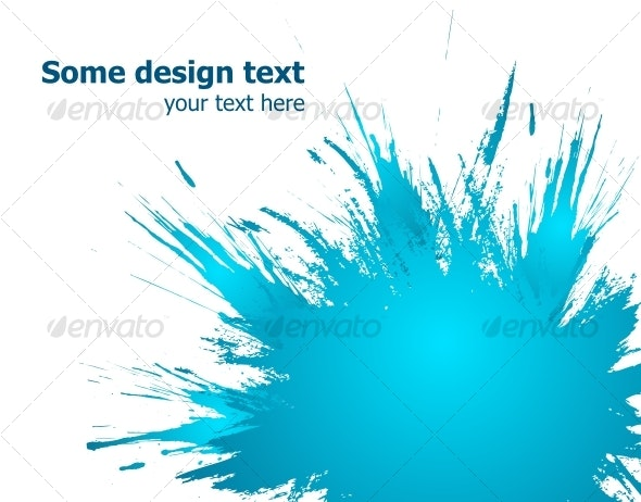 Blue paint splashes background. Vector illustratio - Backgrounds Decorative