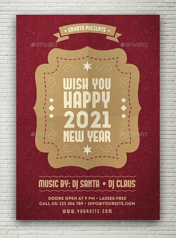 New Year Flyer - Flyers Print Templates