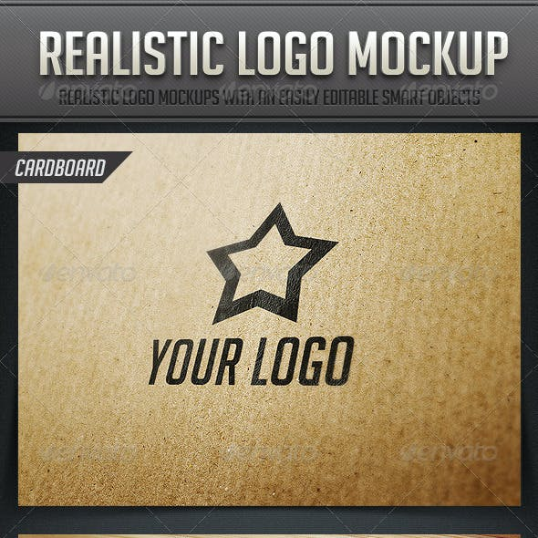 Realistic Logo Mockup