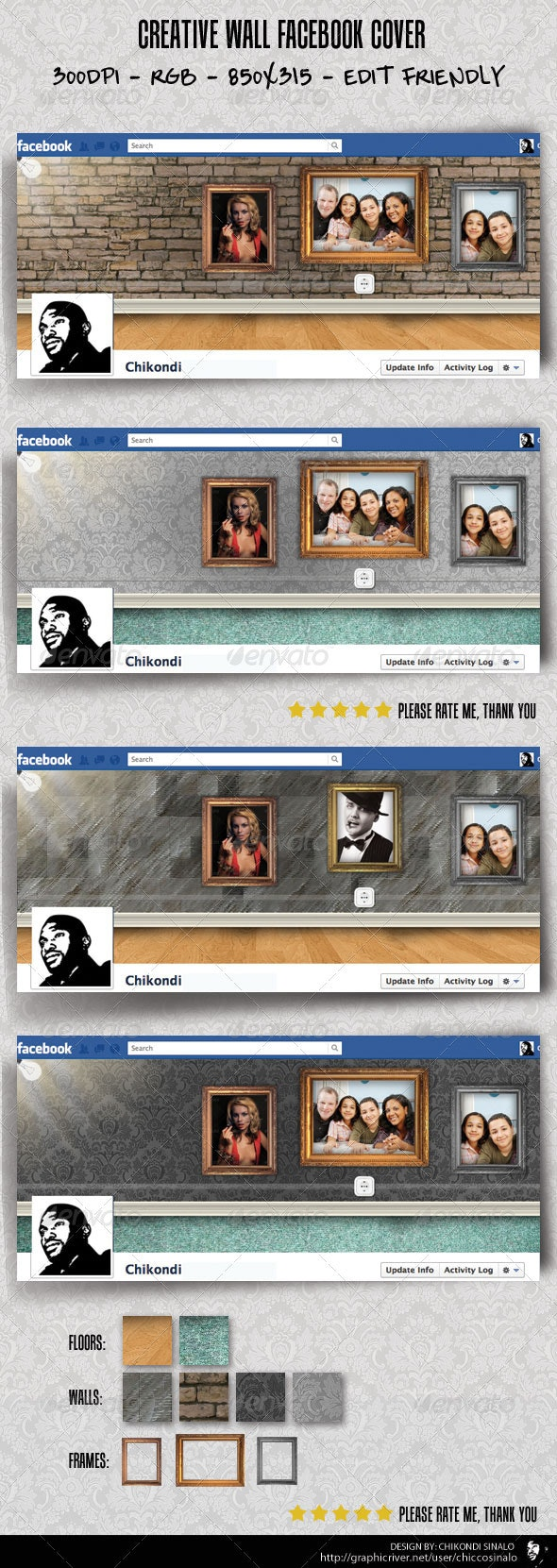 Creative Wall Facebook Cover - Facebook Timeline Covers Social Media