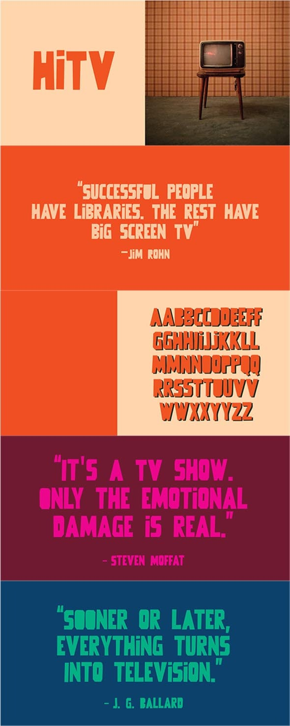 Hi TV - Cool Fonts