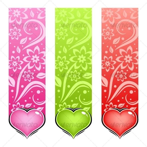 Glossy heart. Vector love card. - Decorative Symbols Decorative