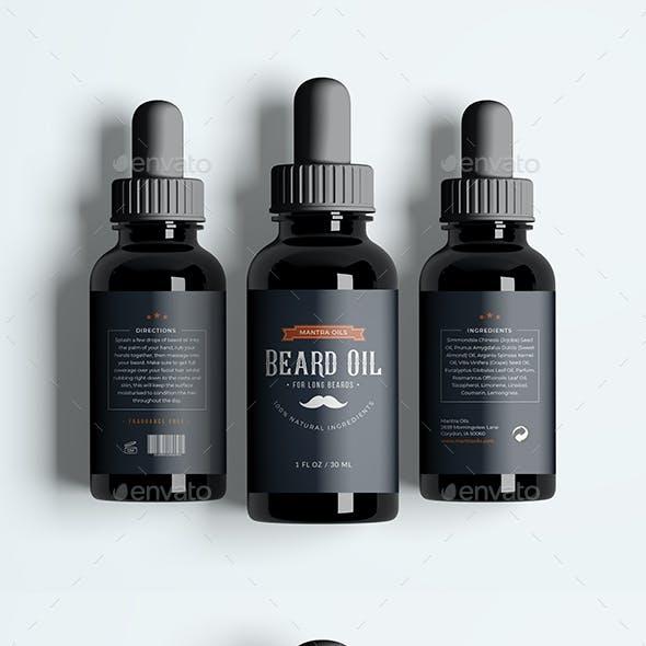 Beard Oil Label Design