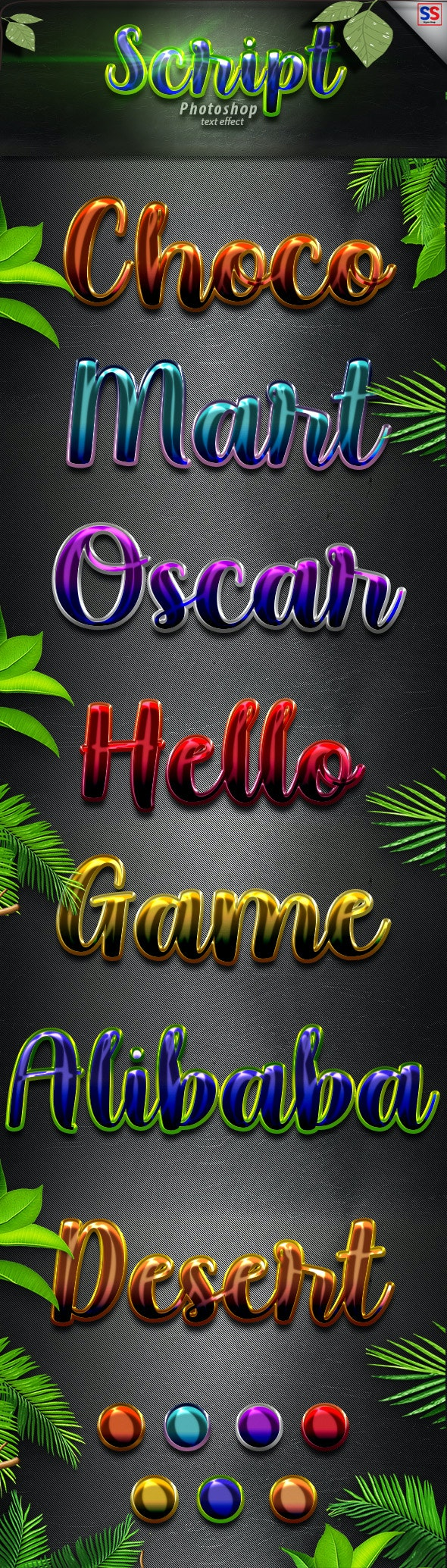 Script Photoshop Text Effect - Text Effects Styles