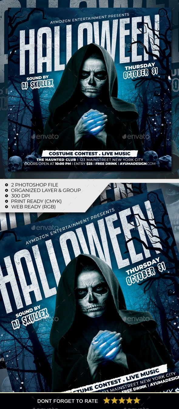 Halloween Flyer - Clubs & Parties Events