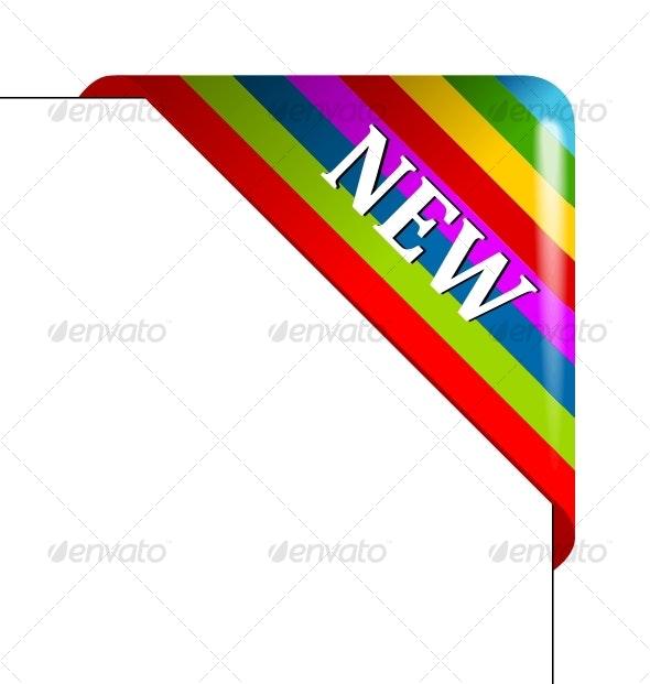 Vector color corner. Business ribbon - Decorative Symbols Decorative