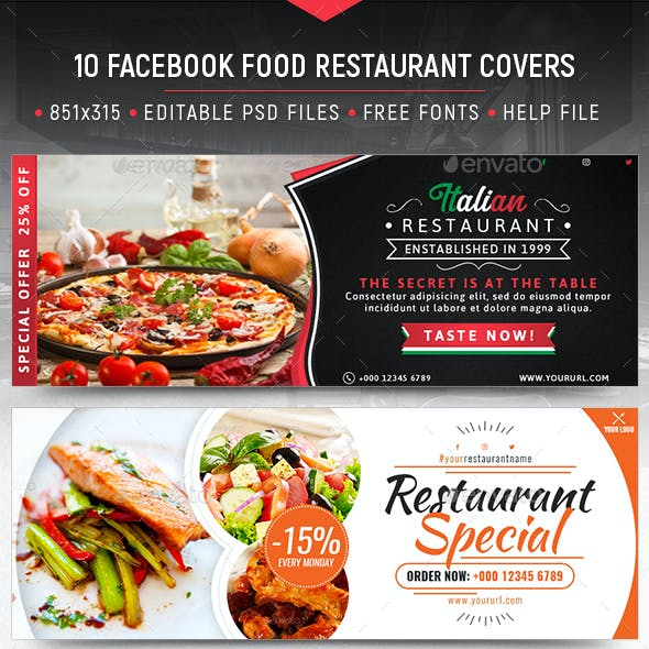 Food Restaurant Facebook Covers