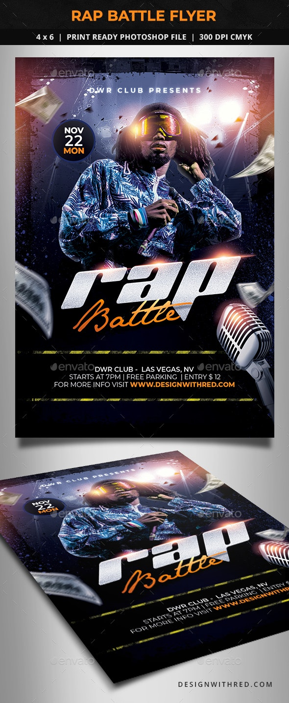 Rap Battle Flyer - Clubs & Parties Events