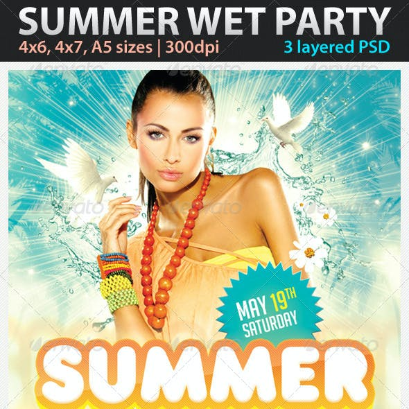 Summer Wet Party Flyer