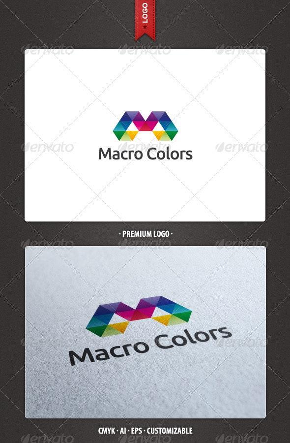 Macro Colors Logo Template - Abstract Logo Templates