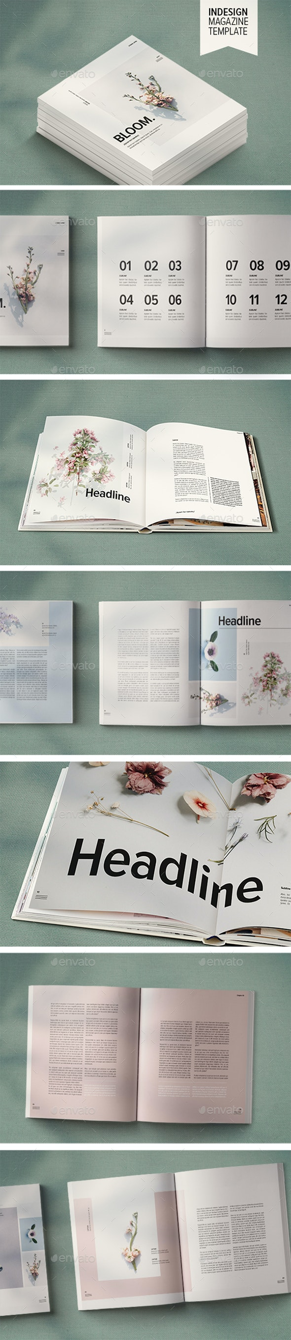 Magazine Template | Bloom - Magazines Print Templates