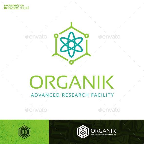 Organik Molecule Atom Tech Logo Template