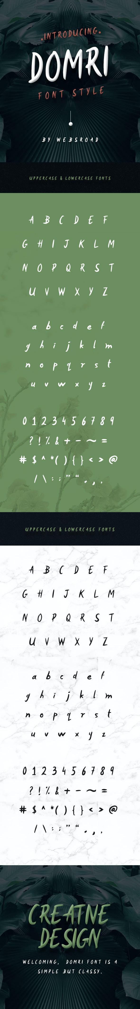 Domri Handwritten Font Style - Handwriting Fonts