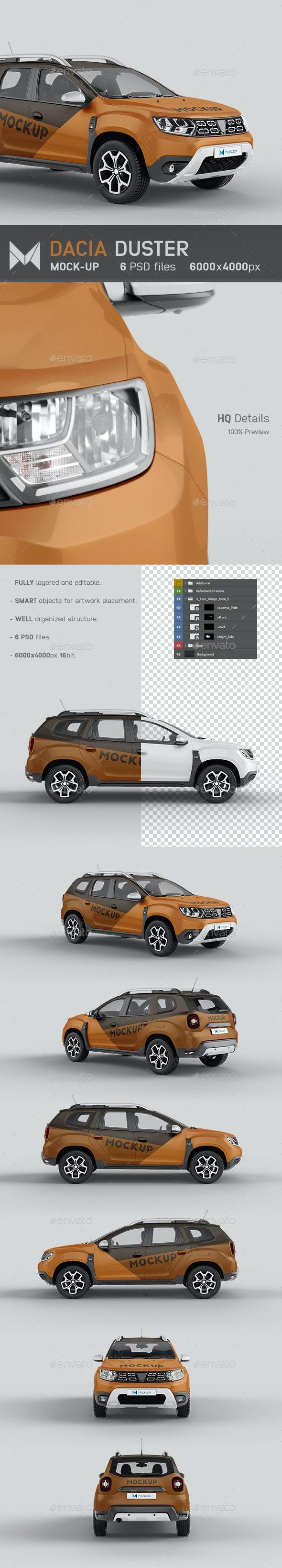 Dacia Duster Car Mockup - Vehicle Wraps Print