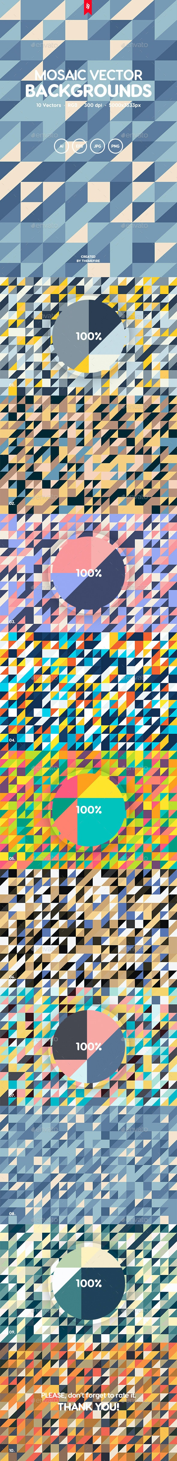 Mosaic Vector Backgrounds - Patterns Backgrounds