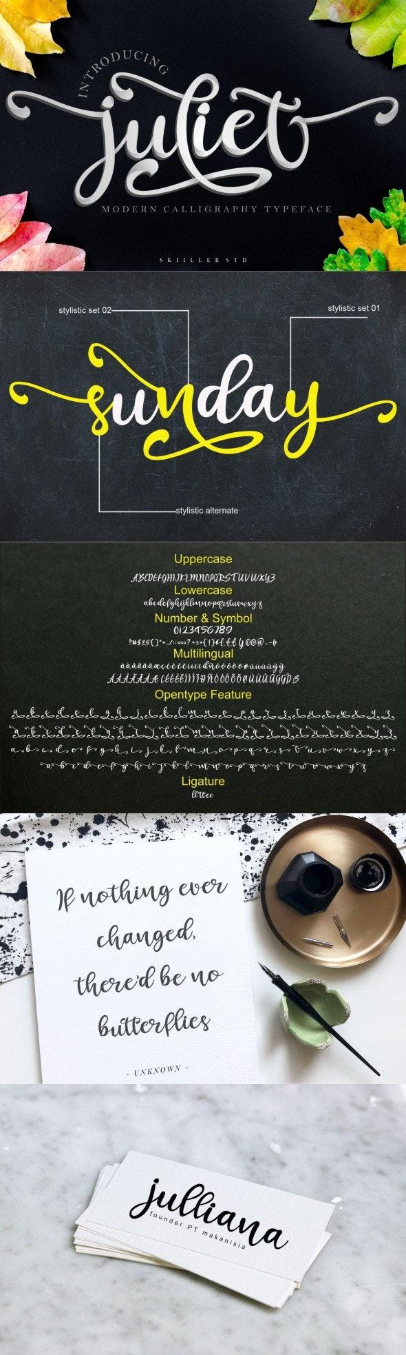 Juliet - Script Font - Script Fonts