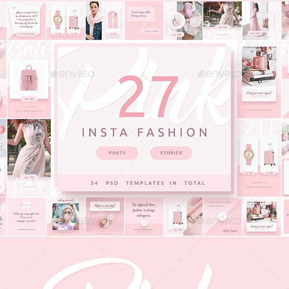 Pink Fashion - Instagram Posts & Stories