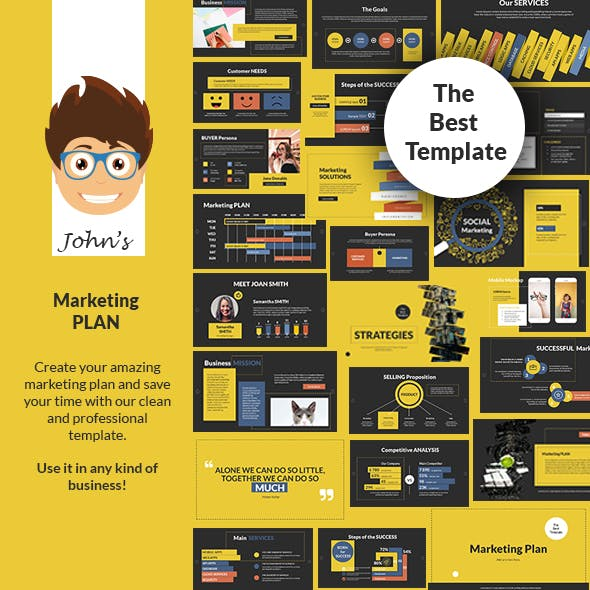 John's Marketing Plan PowerPoint Presentation Template