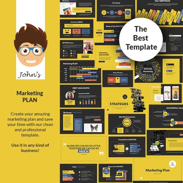 John's Marketing Plan PowerPoint Presentation Template - Business PowerPoint Templates