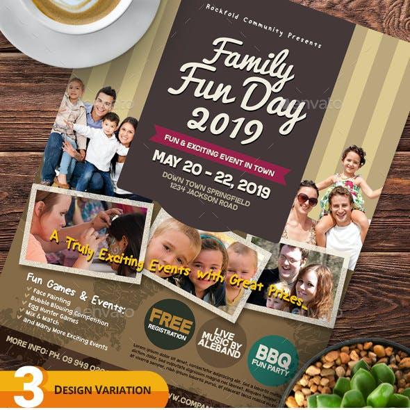 Alternative Family Fun Day Flyers vol.03