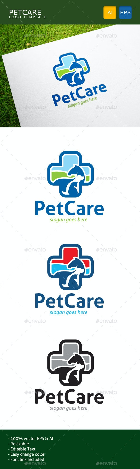 Pet Care - Animals Logo Templates