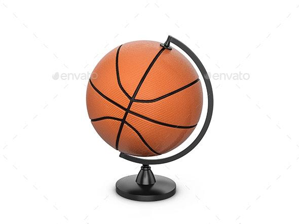 Basketball ball globe - Objects 3D Renders