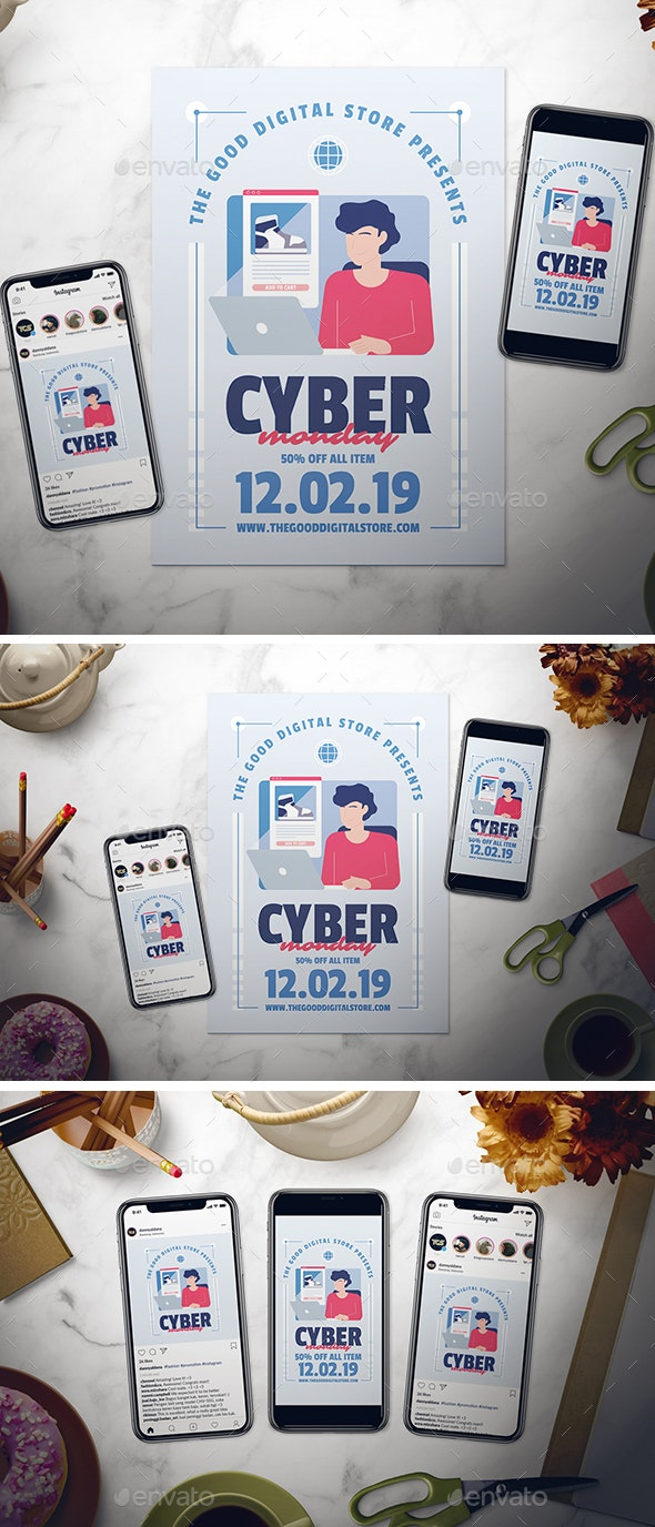 Cyber Monday Flyer Set - Commerce Flyers