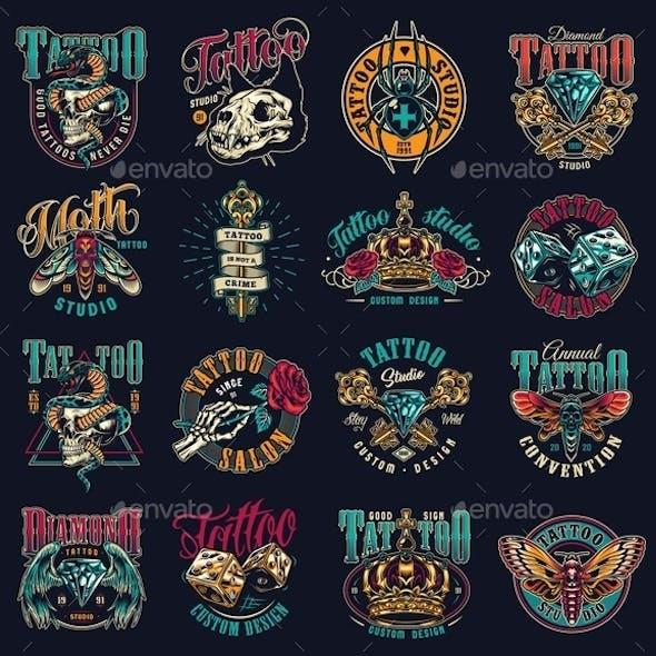 Vintage Tattoo Emblems