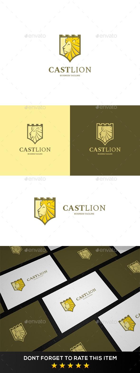 Lion Castle Logo Template - Animals Logo Templates