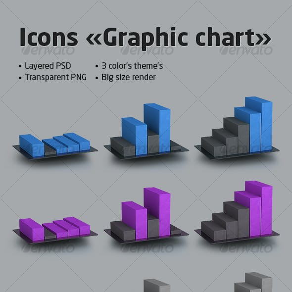 Icons set «Graphic chart»