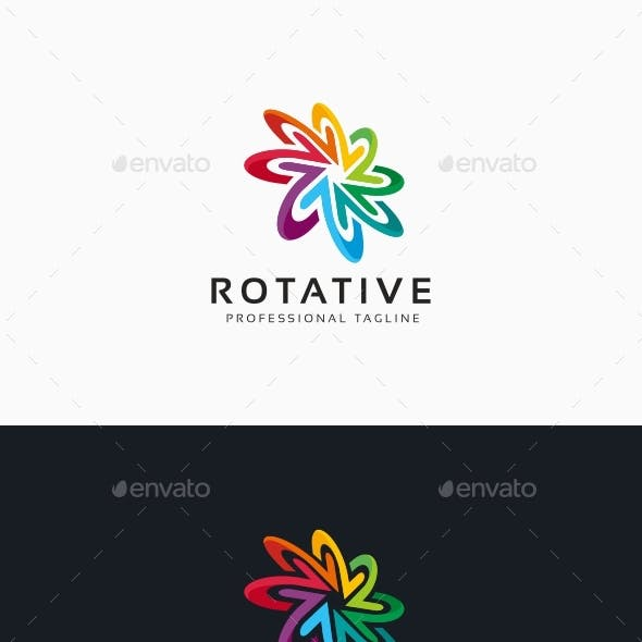 Arrows Circle Rotation Logo