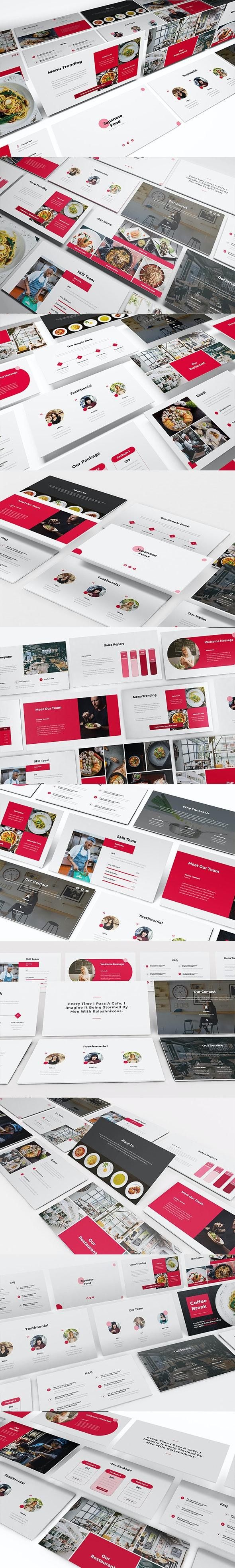 Japanese Food Keynote Template - Keynote Templates Presentation Templates